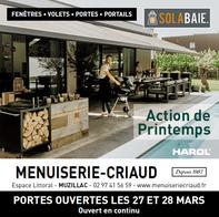 MENUISERIE CRIAUD prospectus campagne de communication Ouest-France