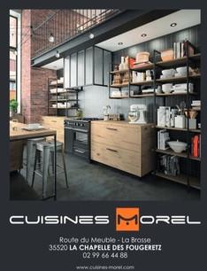Cuisines Morel à La Chapelle de Fougeretz, une Publicité Print Precom Habitat