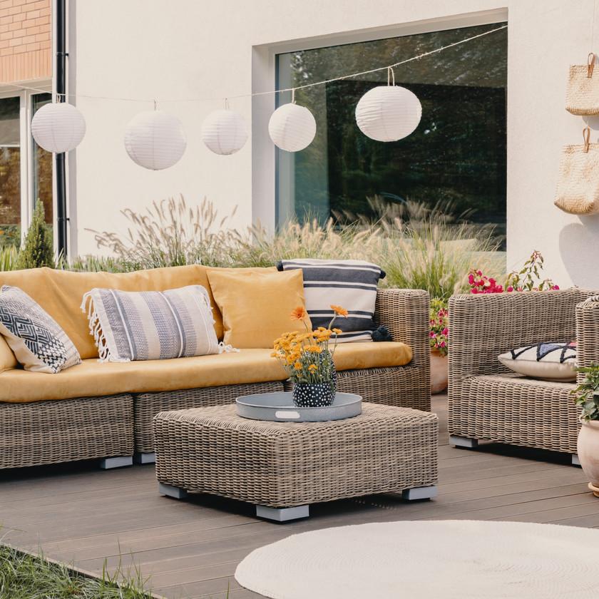 Salon de jardin terrasse Rotin fibre naturelle déco tendance mobilier salon