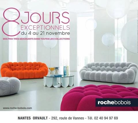 Roche Bobois à Nantes et Orvault, une Publicité print Precom Habitat