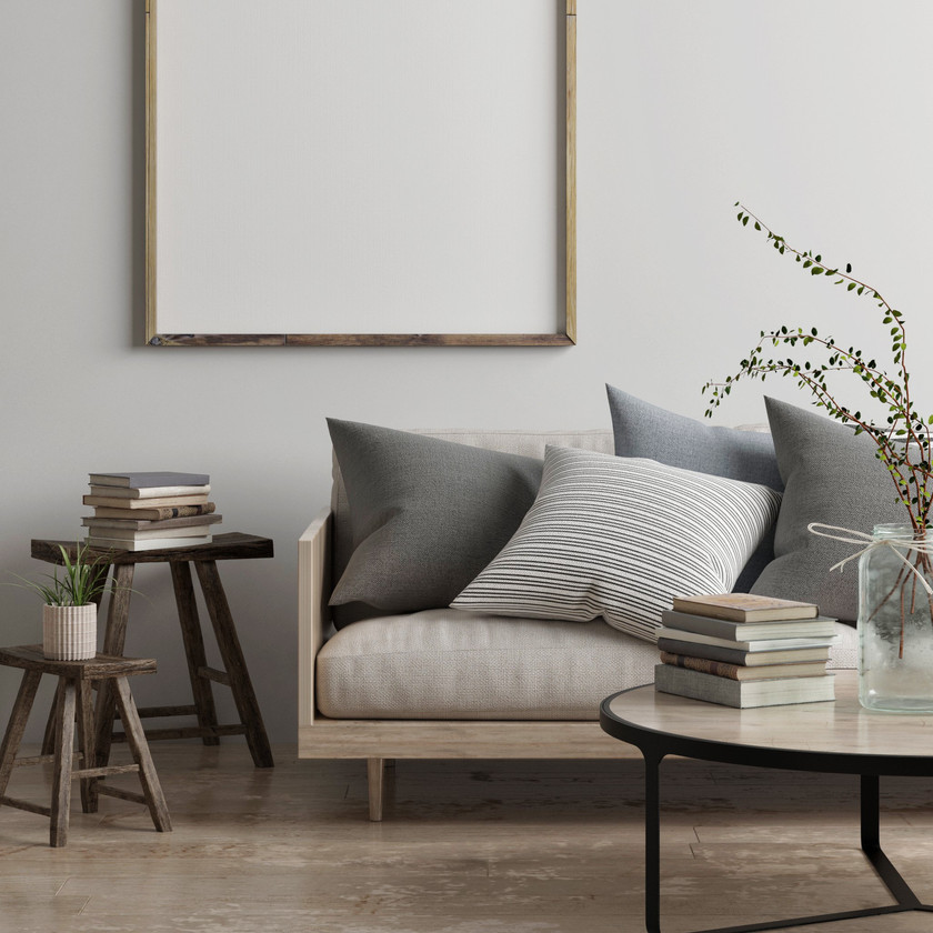 Déco Japandi scandinave wabi-sabi minimaliste salon