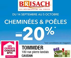 Cheminée Poêle Brisach Pub print ouest-france Precom Habitat