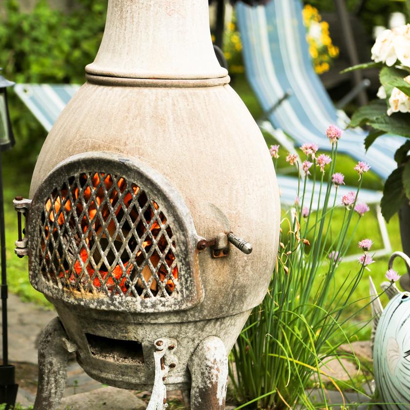 Chauffage extérieur cheminée brasero pour votre terrasse