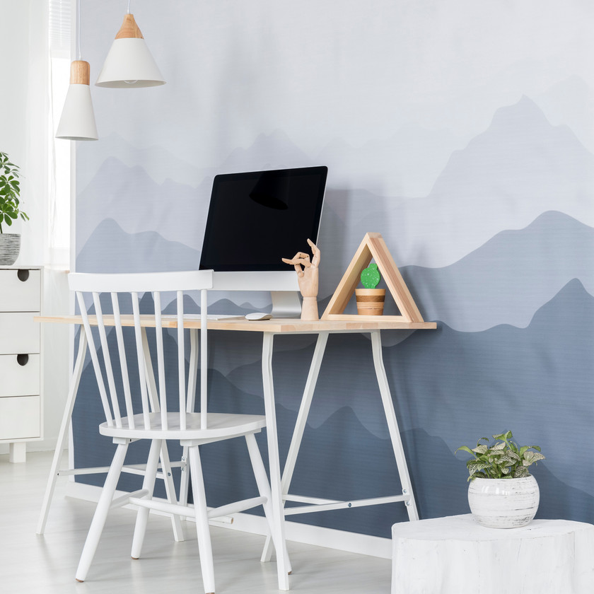 Papier peint revêtement mur déco montagnes bureau chambre
