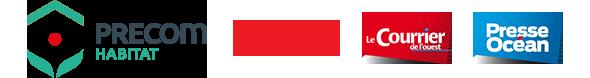 Logos Precom Habitat et groupe Ouest-Fra