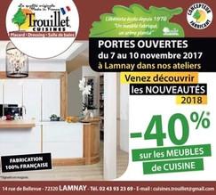 Trouillet Cuisines à Lamnay, une Publicité Print Precom Habitat