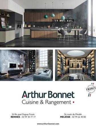 Arthur Bonnet à Rennes Melesse Cuisine Rangement, une Publicité Print Precom Habitat