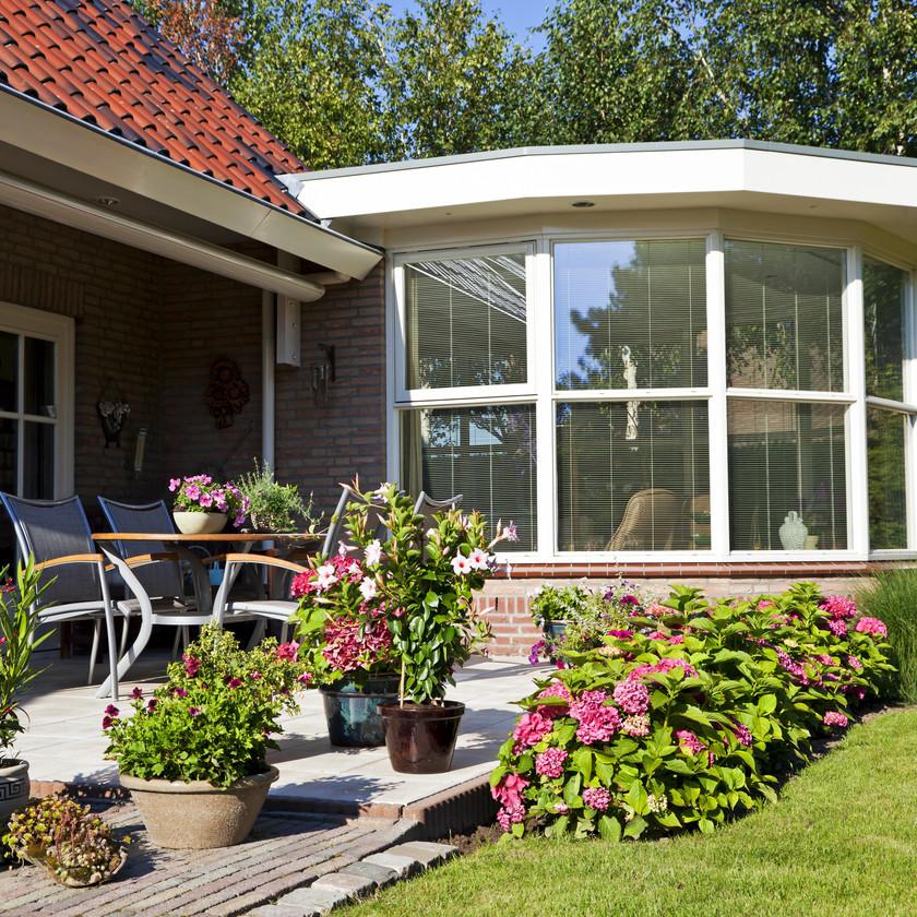 Veranda extension jardin terrasse pergola