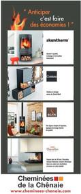 Cheminées Chênaie à Saint-Jean-de-Linières, une publicité print Precom Habitat