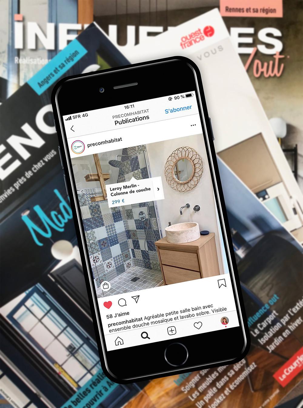 Comment communique un cuisiniste, un architecte d'intérieur, un menuisier, un professionnel de l'habitat. Stratégie de communication et marketing réseaux sociaux Instagram, Facebook, Pinterest. Gagner de l'argent avec Instagram, vendre sur Instagram