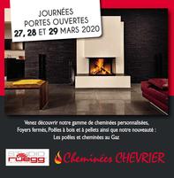 CHEMINEES CHEVRIER  prospectus campagne de communication Ouest-France