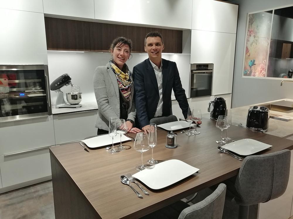 Julie Forget et Ruddy Allais, Gérants de Olympes Cuisines : cuisiniste et spécialiste de l'aménagement intérieur sur-mesure à Caen dans le Calvados en Normandie