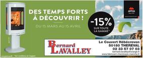 Cheminées Lavalley Bernard à Théreval, une publicité print Precom Habitat