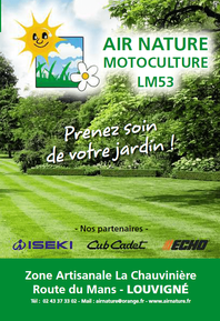 AIR NATURE MOTOCULTURE prospectus campagne de communication Ouest-France