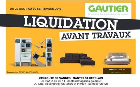 Meubles Gautier à Saint-Herblain, une Publicité Print Precom Habitat