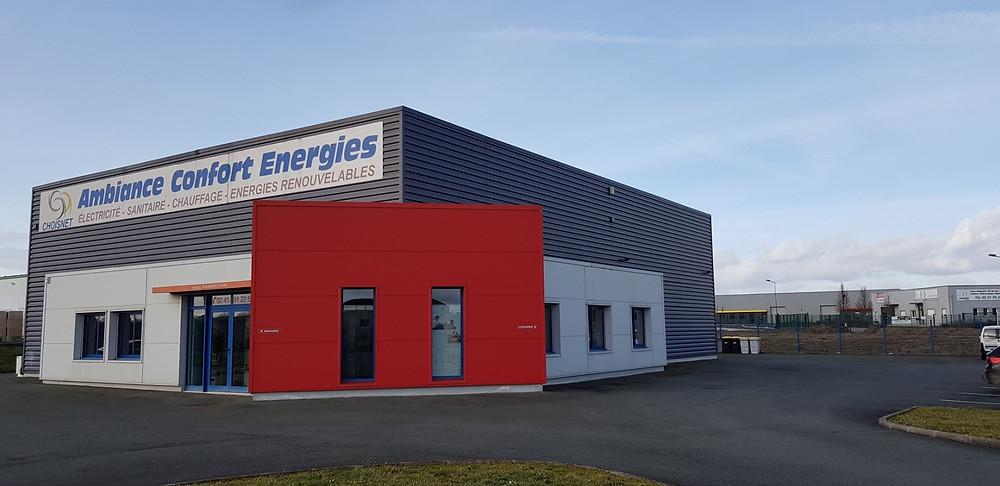Ambiance Confort Energie, spécialiste de l'électricité, sanitaire, chauffage, plomberie et énergies renouvelables en maine et loire