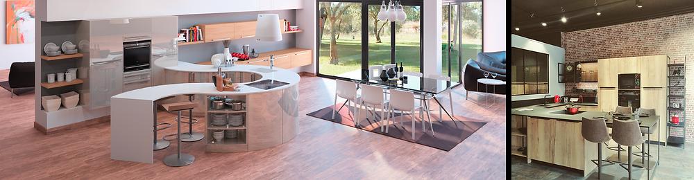 Conception et installation de cuisine sur mesure design moderne, cuisiniste, aménagement et agencement intérieur à Caen dans le Calvados