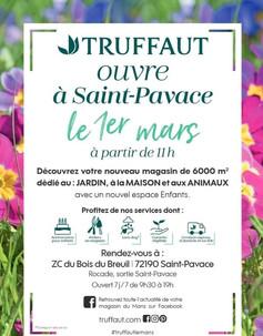 Truffaut à Saint-Pavace, une Publicité Print Precom Habitat