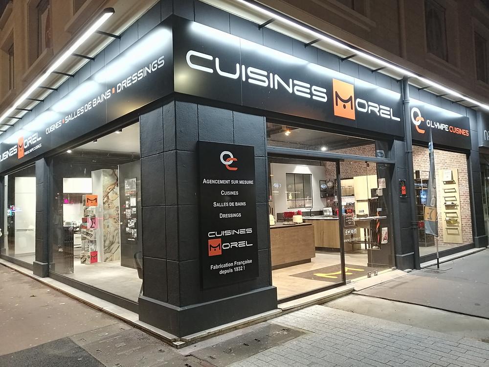 Conception et installation de cuisine sur mesure, salle de bain, dressing design moderne, cuisiniste, aménagement et agencement intérieur à Caen dans le Calvados