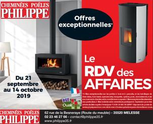 Cheminées Poêles Philippe Pub print Ouest-France Precom Habitat