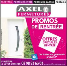 Axel Fermetures à Quimper, une Publicité Precom Habitat