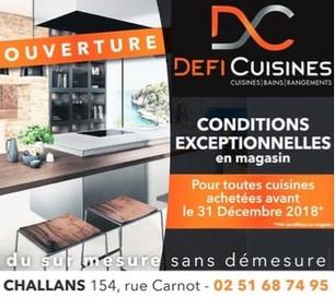 Defi Cuisines à Challans, une Publicité Print Precom Habitat