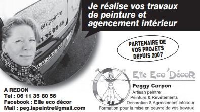 Publicité print Ouest-France de Elle Eco Decor, Artisan peintre, revêtement muraux, papier peint