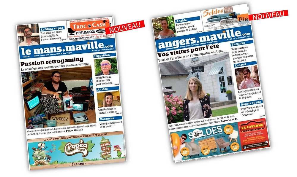 Offre print presse Journal Maville.com sur Le Mans et Angers, Manchette
