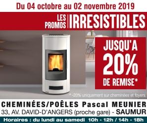 Cheminée Poêles Pascal Meunier Pub print ouest-france Precom Habitat