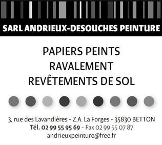 Pub print Ouest-France, Andrieux Desouches Peinture, professionnel du papier peint, ravalement et revêtement de sol à Betton