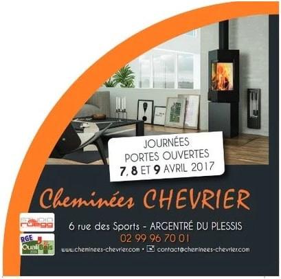 Cheminées Chevrier à Argentré-du-Plessis, une publicité Print Precom Habitat