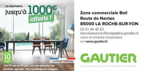 Meubles Gautier La Roche-Sur-Yon Publicité print Precom Habitat