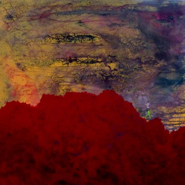 Gravir-acend / Acrylique sur isorel / 50 x 50 cm