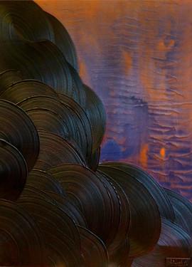 Paysage-Landscape / Acrylique, pigments et enduit sur isorel / 80 x 60 cm