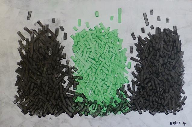 Empilement-Stack / Acrylique sur isorel /  80 x 120 cm