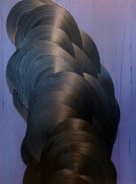 Envolée-Soaring / Acrylique et enduit sur isorel / 80 x 60 cm