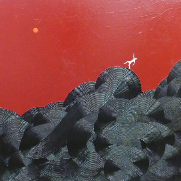 Déséquilibre-Imbalance / Acrylique et enduit sur toile / 80 x 80 cm