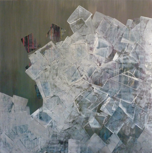 Détachement-Detachment / Acrylique sur isorel / 100 x 100 cm