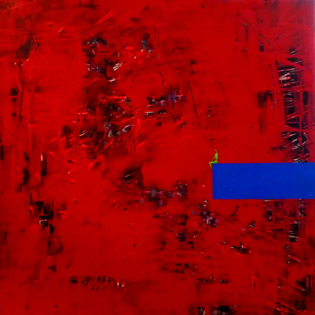 Méditer-Médidate / Acrylique sur isorel / 50 x 50 cm