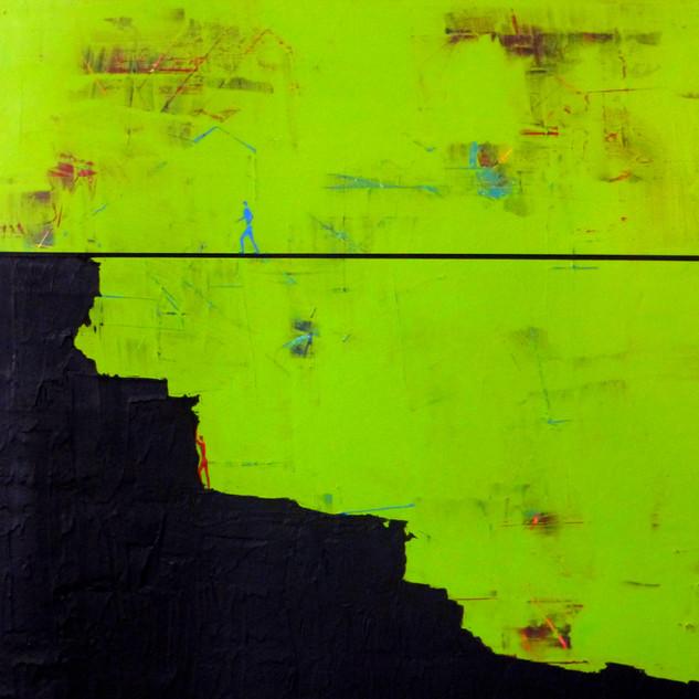 Parcours de vie-The course of life / Acrylique sur isorel / 50 x 50 cm