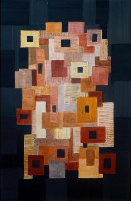Totem / Acrylique, pigments sur isorel / 65 x 100 cm