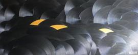 Emergence / Acrylique et enduit sur isorel / 60 x 150 cm