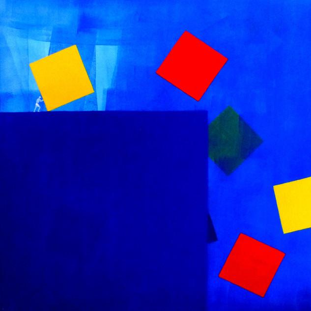 Faire le vide-To empty / Acrylique sur toile / 80  x 80 cm