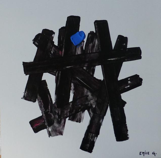 Structure / Acrylique sur isorel /  25 x 25 cm