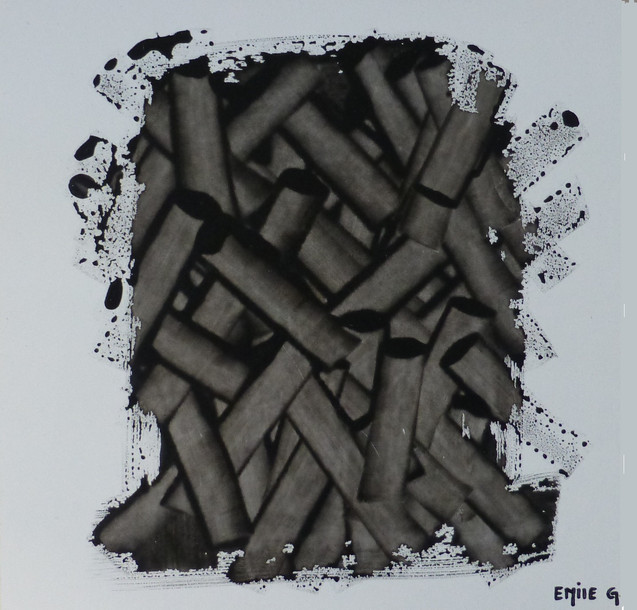 Empilement-Stack / Acrylique sur isorel / 25 x 25 cm