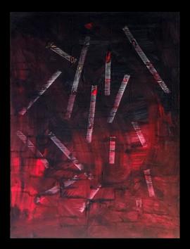 Tempête-Storm / Acrylique et enduit sur isorel / 80 x 60 cm