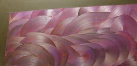 Rouages-Wheel / Acrylique et enduit sur isorel / 50 x 120 cm