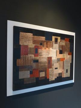 Composition / Acrylique, pigments et enduit sur isorel / 60 x 80 cm