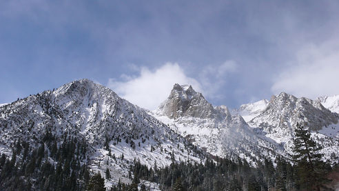Snowy Mountians and Blue Skys