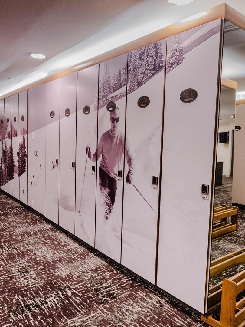 Club One Ski Lockers Room